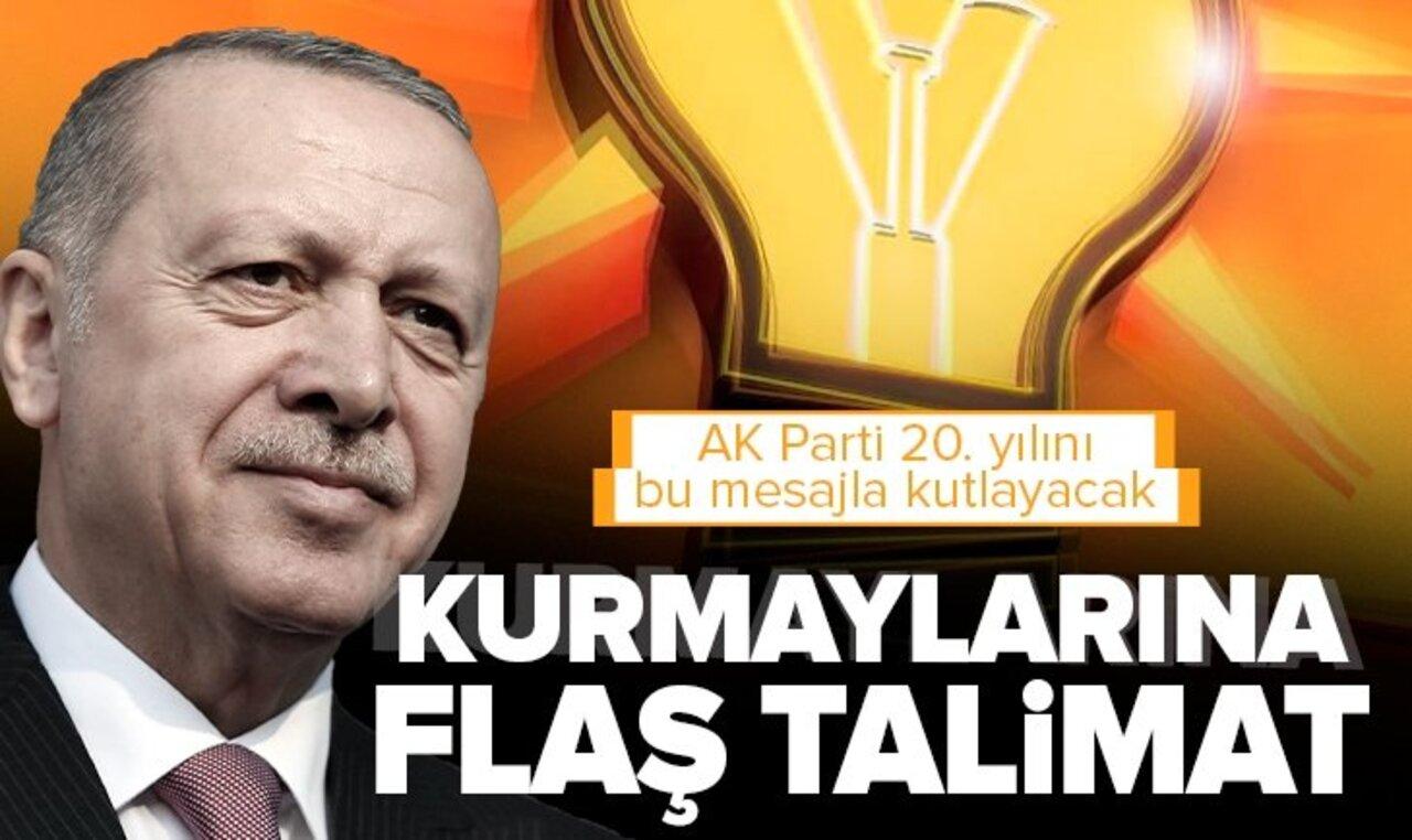 AK Parti'nin 20. yıl kutlama mesajı hazır!