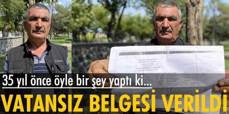 Askerden firar edince kendi ülkesinde 'Vatansız' belgesiyle yaşıyor!
