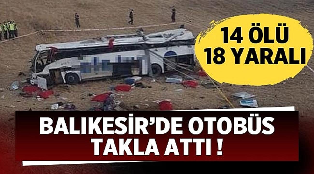 Balıkesir'den acı haber! Yolcu otobüsü yoldan çıkarak takla attı..