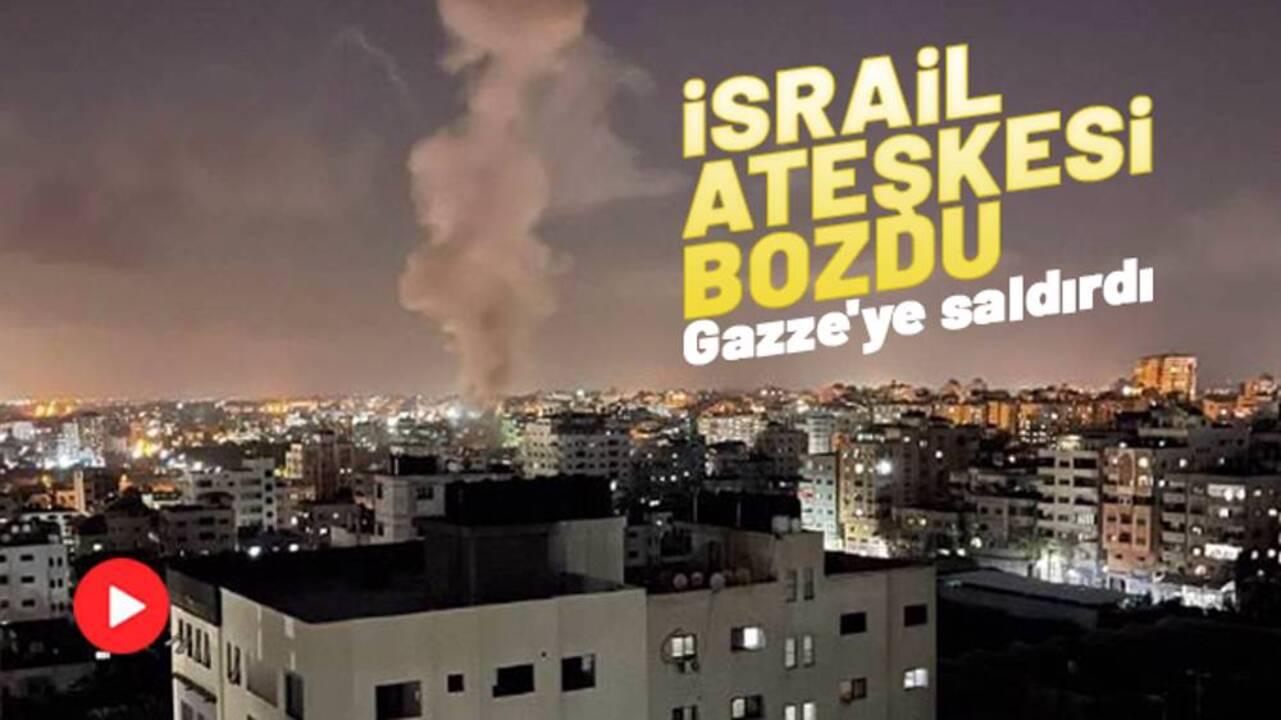İsrail, jetlerle Gazze'yi vurdu! Yaralılar var..