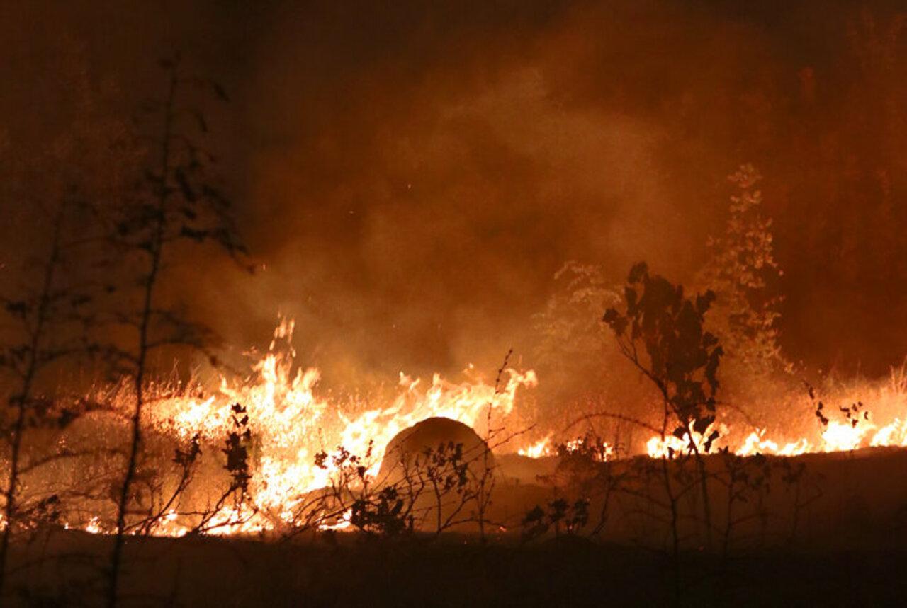 Kuzey Makedonya'da çıkan yangın hızla büyüyor