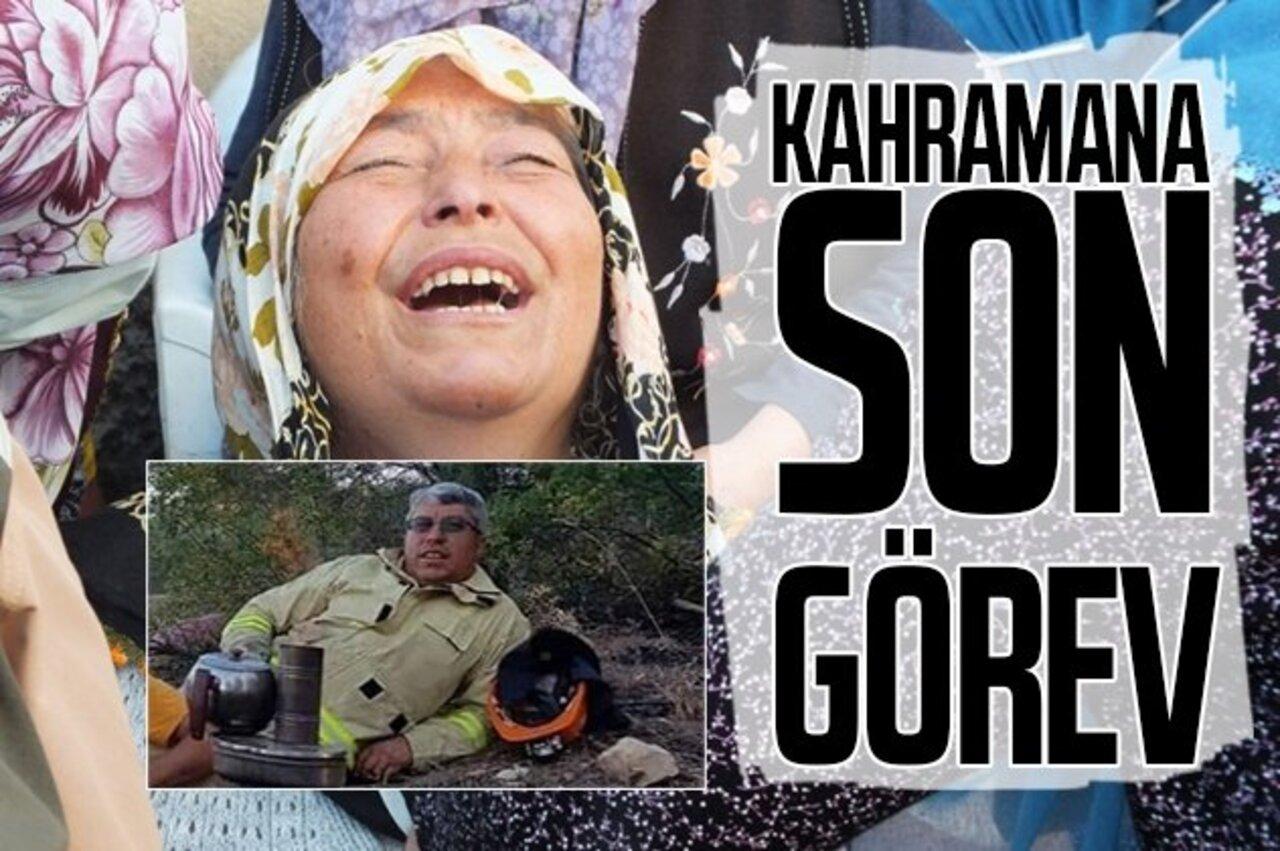 Manavgat yangınında hayatını kaybeden ormancı Yaşar Cinbaş'a son görev!