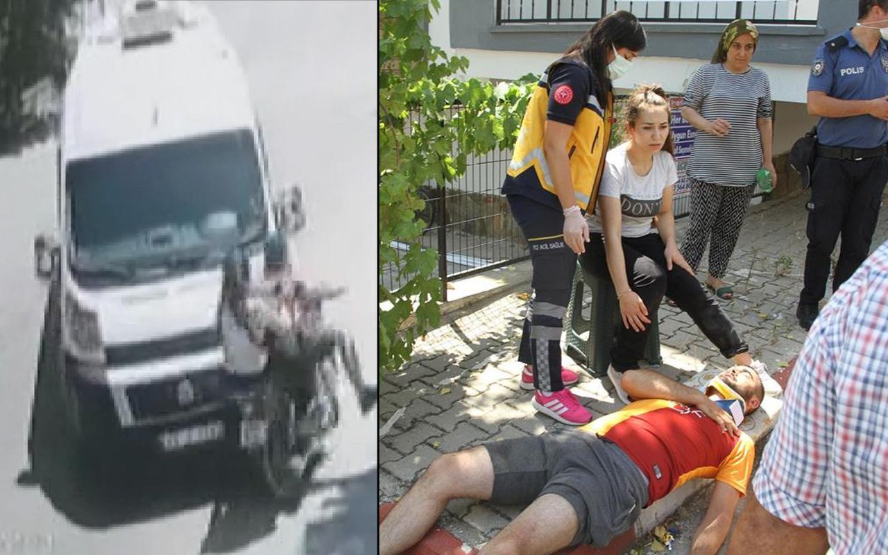 Manisa'da motosiklet minibüsle kafa kafaya çarpıştı: 2 yaralı