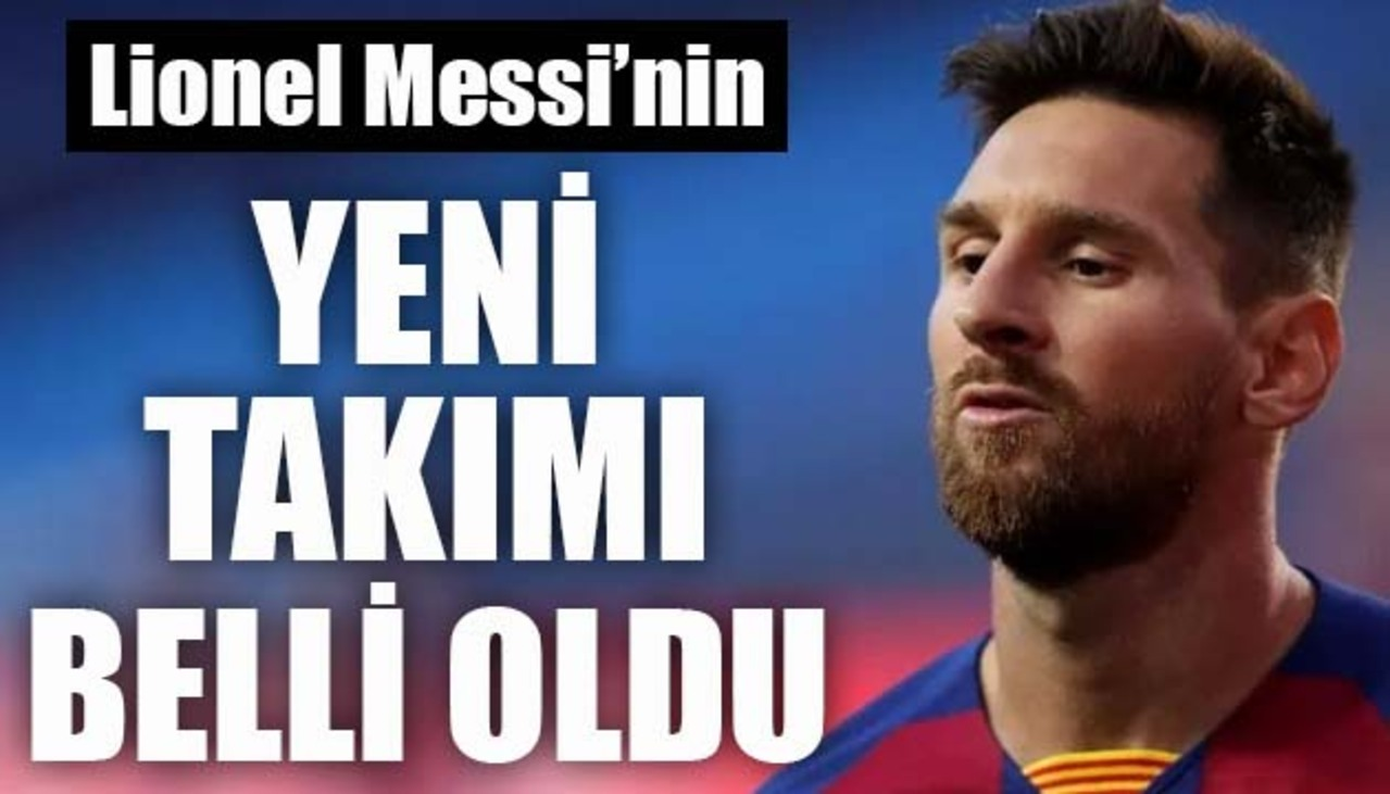 Messi, yeni takımı PSG ile 3 yıllık anlaşmaya vardı