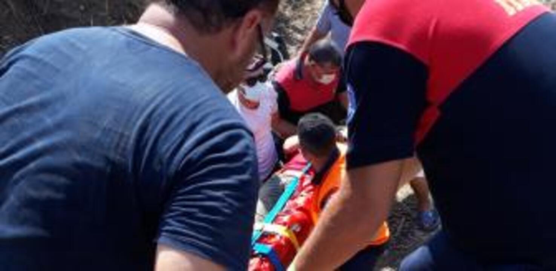Muğla'da hafif ticari araç devrildi: 1 yaralı