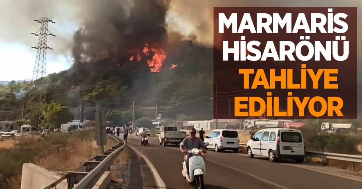 Muğla'da yangınlar devam ediyor! Hisarönü tekrar alevlendi, evler tahliye ediliyor..