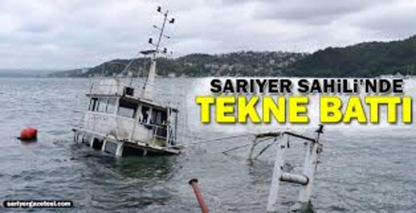 Sarıyer sahilinde içinde 8 kişi olan tekne battı!