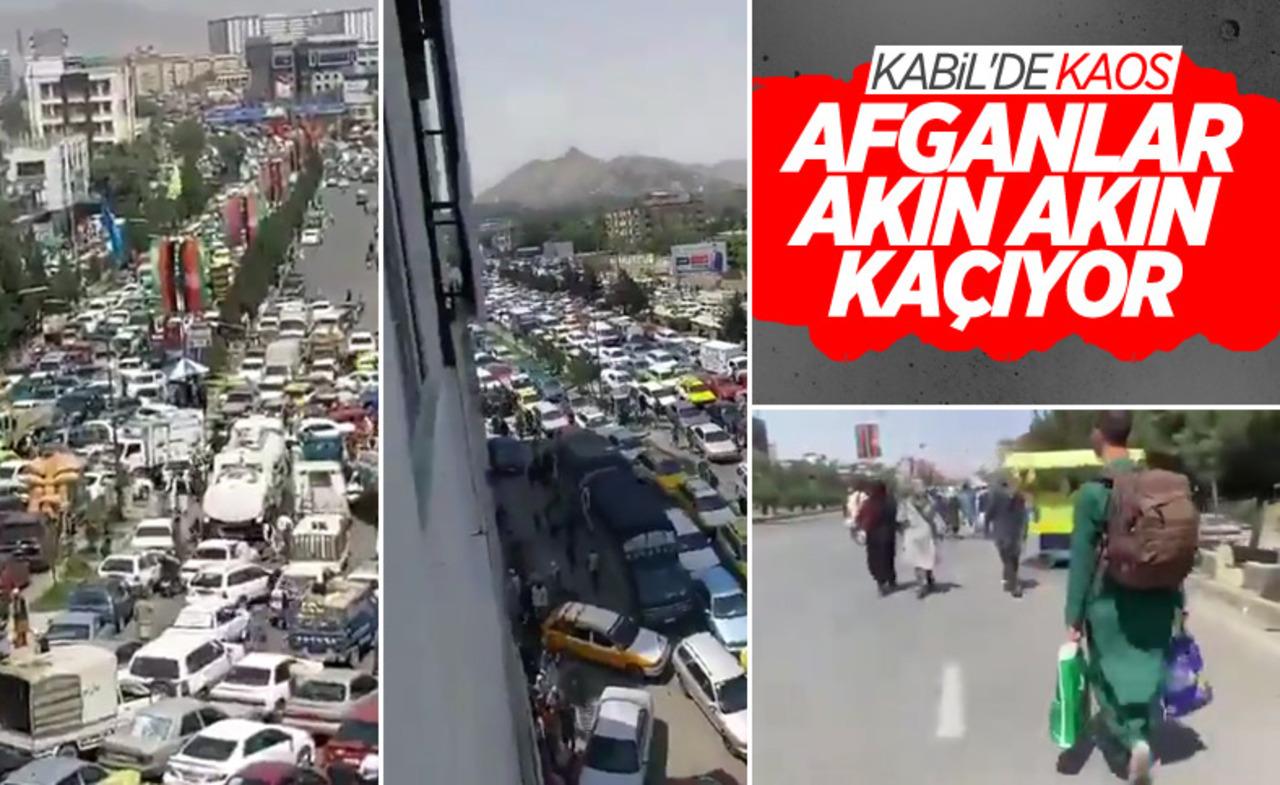 Taliban'ın ele geçirdiği Kabil'de kaos! İnsanlar kaçıyor..