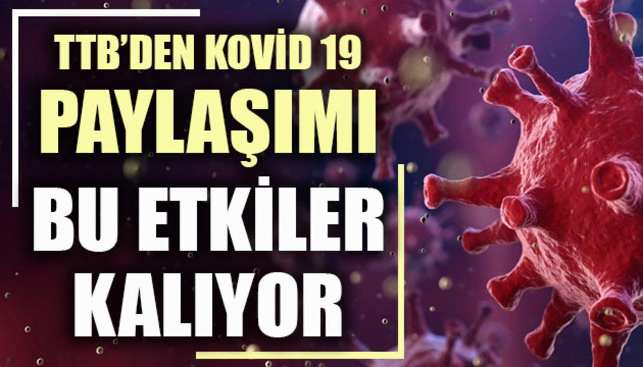 Türk Tabipleri Birliği, Kovid-19'un uzun dönem etkilerini paylaştı!