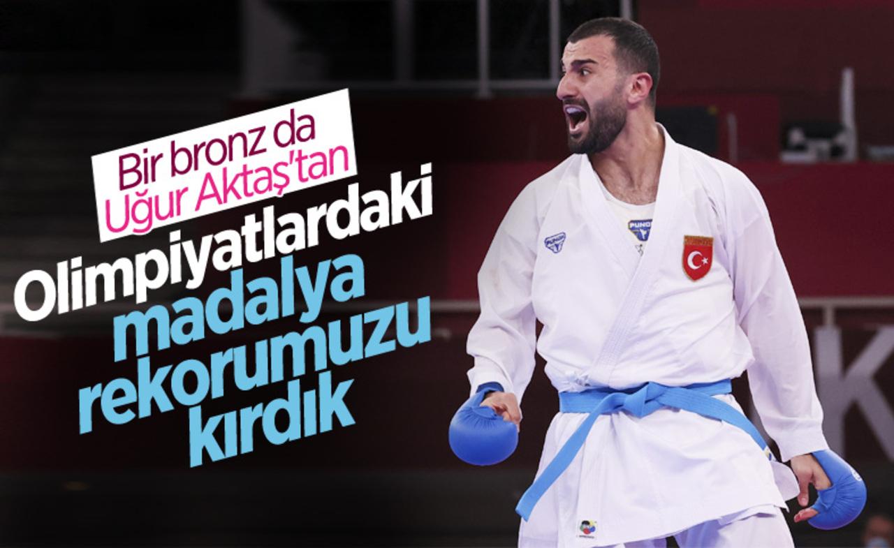 Türkiye rekorunu kırdı! Tokyo'da karate kumite'de Uğur Aktaş'tan bronz madalya