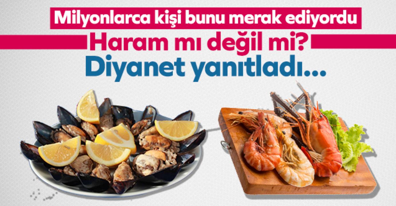 Yasak getirilen deniz ürünleri hakkında Diyanet'ten yeni açıklama!