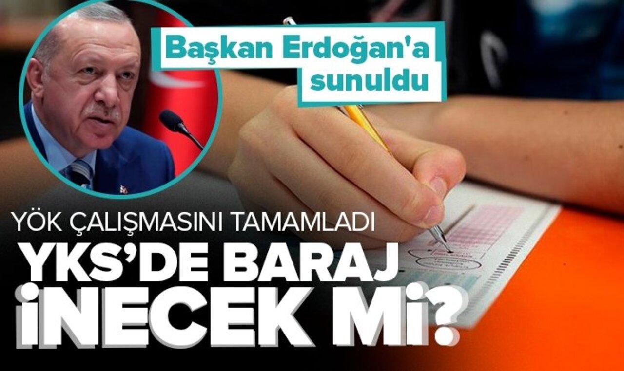 YKS baraj puanları düşecek mi? Çalışmalar Cumhurbaşkanı Erdoğan'a sunuldu..