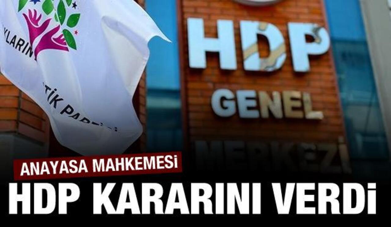 AYM'den HDP kararı! İstenilen ek süre kabul edildi..
