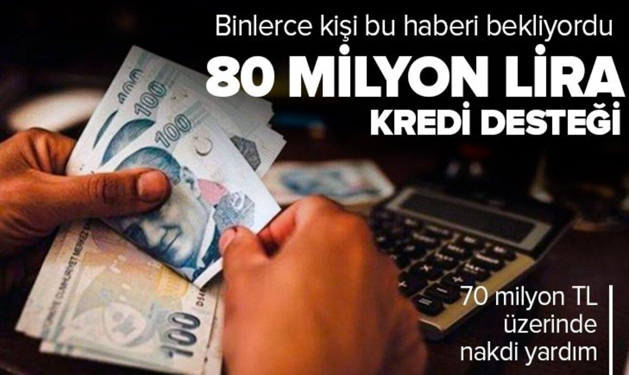 Beklenen haber geldi! Esnafa 80 milyon lira kredi desteği verilecek