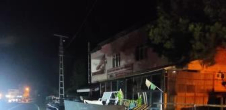 Giresun'da otomobil demir profillere çarptı: 5 yaralı
