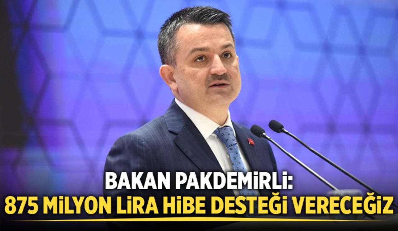 Tarım Bakanı Pakdemirli, 493 proje 875 milyon lira hibe desteği verileceğini duyurdu!