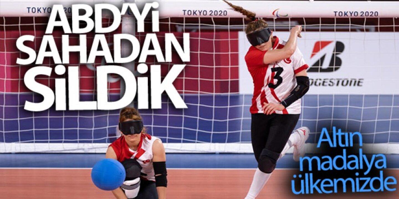 Türkiye Golbol Kadın Milli Takımı, Tokyo Paralimpik oyunlarında altın madalyayı kaptı!