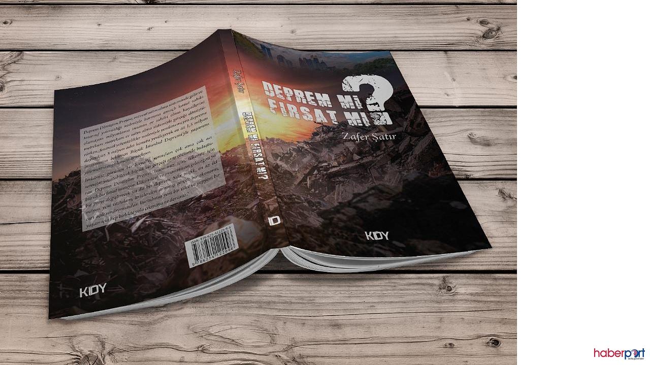 Yazar Zafer Şatır'dan Istanbul Depremi icin tavsiyeler kitabi Satışa Başladı