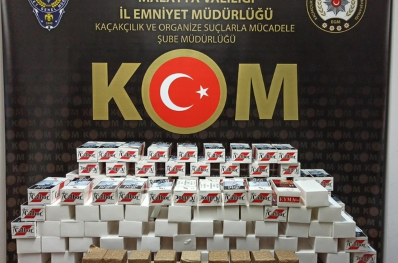 Malatya'da 100 bin kaçak makaron ele geçirildi
