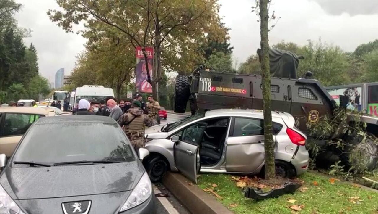 Sarıyer'de zincirleme kaza! Ejder zırhlısının karıştığı kazada 3 kişi yaralandı