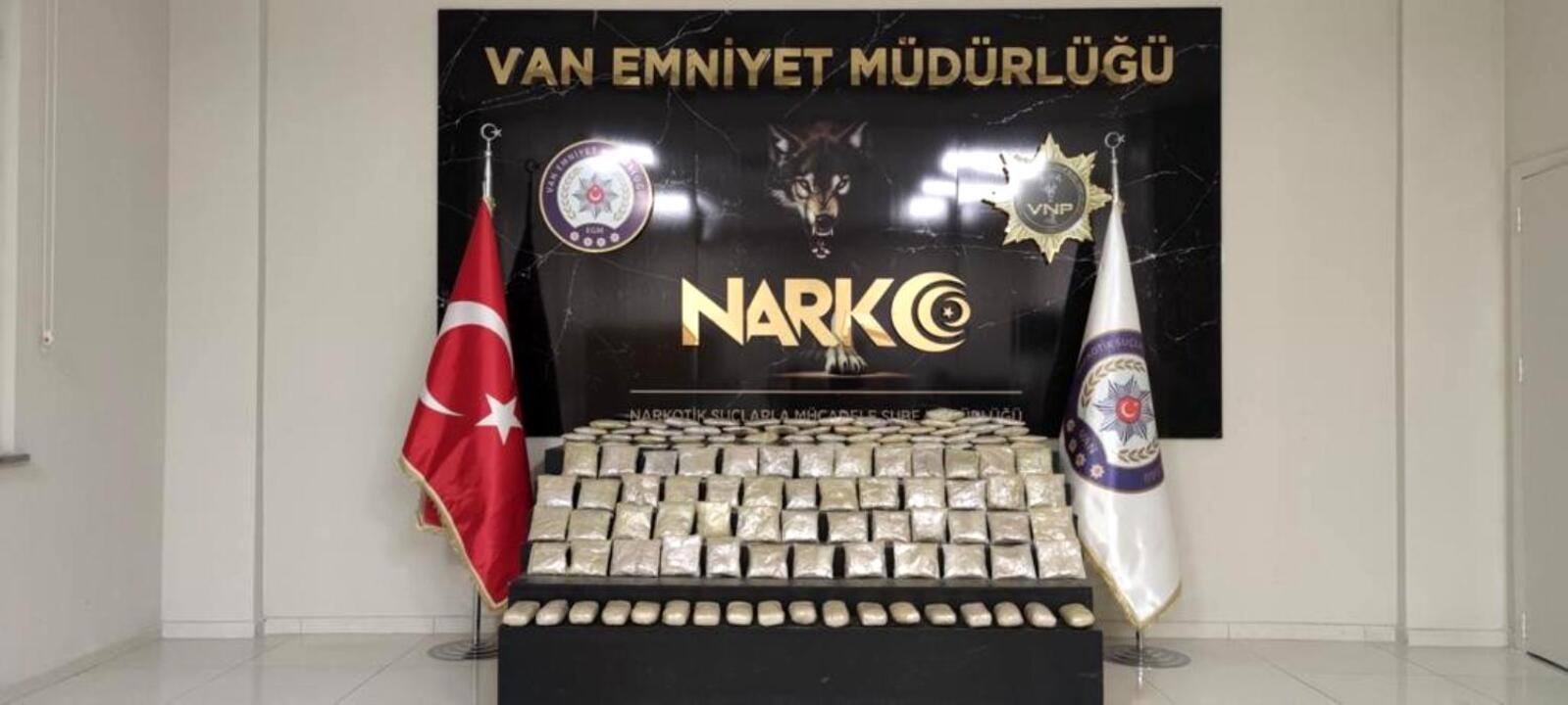 Van'da son bir haftada 387 kilo uyuşturucu madde ele geçirildi