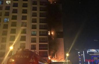 Başkent Ankara'da 160 dairelik binada yangın!