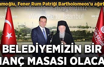 Fener Rum Patriği Bartholomeos'un yarım saatlik İmamoğlu ziyareti