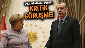 Cumhurbaşkanı Erdoğan, Almanya Başbakanıyla Suriye meselesini görüştü
