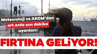 İstanbul'a fırtına geliyor! İBB ve AKOM'dan vatandaşlara uyarı