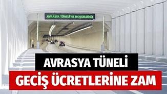 Avrasya Tüneli geçiş ücretlerine yüzde 56 zam! Yeni tarife bu gece geçerli olacak