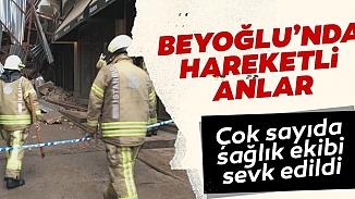 Beyoğlu'nda yine bir bina çöktü! Bugün yıkılan 5 katlı bina korkuttu