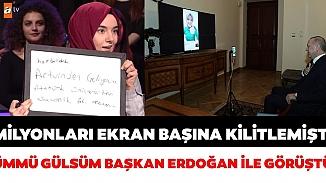 Cumhurbaşkanı Erdoğan, bilgi yarışmasına damga vuran Ümmü Gülsüm Genç ile görüştü