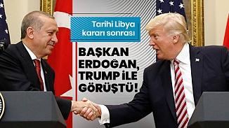 Cumhurbaşkanı Erdoğan ve ABD Başkanı Trump'tan Libya görüşmesi
