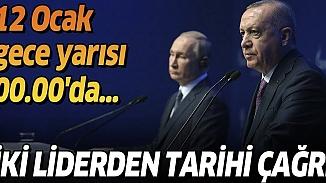 Cumhurbaşkanı Erdoğan ve Putin, zirve görüşmesinde Libya için tarih verdi