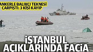 Denizde korkunç kaza! Kilyos'ta tanker, balıkçı teknesine çarptı; 3 kişi kayıp