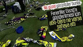 Fenerbahçeli taraflardan örnek davranış! Depremzedeler için sahaya atkılar atıldı