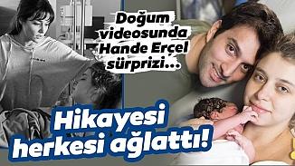 Hande Erçel'in ablası Gamze Erçel kızı Mavi'nin doğum anını paylaştı