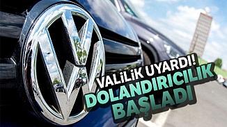 Manisa Valiliği vatandaşları uyardı; Volkswagen dolandırıcılarına dikkat!