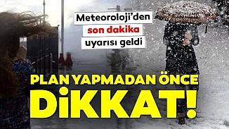 Meteoroloji'den kar ve fırtına için 5 Ocak hava tahmin raporu! İstanbul için gün verildi