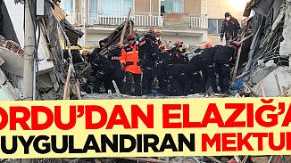 Ordu'dan Elazığ'a gelen yardım paketindeki ağlatan not!