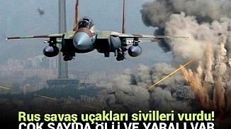 Rus savaş uçaklarının vurduğu İdlib'de 10 sivil hayatını kaybetti