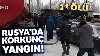Rusya'da işçilerin kaldığı evde korkunç yangın! 11 kişi öldü