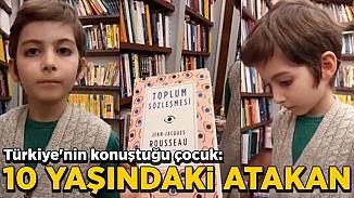 10 yaşındaki kitap kurdu Atakan, sosyal medyanın gündemine oturdu
