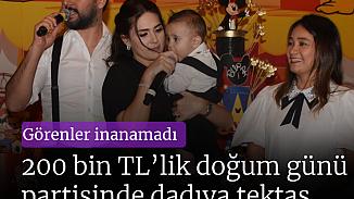 Alişan ve Buse Tektaş'ın oğlu Burak'ın doğum günü partisi