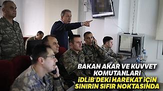 Bakan Hulusi Akar'dan sınırın sıfır noktasında İdlib açıklaması