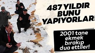 Doğaya 2001 ekmek bırakan Erzurum halkından doğal afet ve felaket duası!