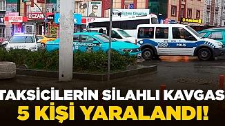 Esenyurt'ta taksiciler arasında silahlar konuştu! 5 yaralı