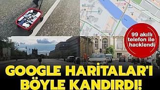 Google Haritaları'ın trafik yoğunluğu özelliği 99 adet telefonla manipüle edildi