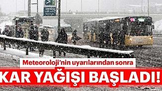İstanbul'a beklenen kar yağmaya başladı; Valilikten peş peşe uyarılar!
