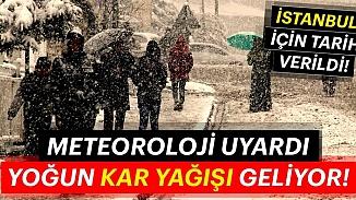 Kar İstanbul'a Çarşamba günü geliyor! Meteoroloji Yurt geneli hava durumu için uyardı